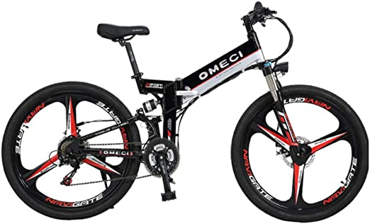 BNMZXNN Bicicleta eléctrica, batería de Litio, Bicicleta de montaña, Bicicleta Plegable de Cross-Country para Hombres de 26 Pulgadas 48V10ah, Bicicleta Urbana de cercanías,C-48V10ah: Amazon.es: Hogar