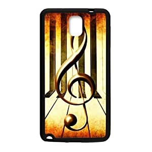 Samsung Galaxy Note 3 Case,Vintage Music Note Music Symbol Piano Keys Hign Definition Retro Design Cover With Hign Quality Rubber Plastic Protection Case
