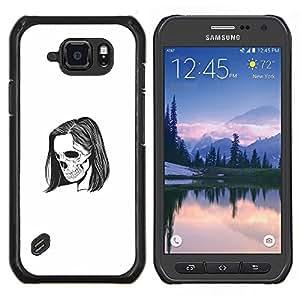 Caucho caso de Shell duro de la cubierta de accesorios de protección BY RAYDREAMMM - Samsung Galaxy S6Active Active G890A - Emo Esqueleto