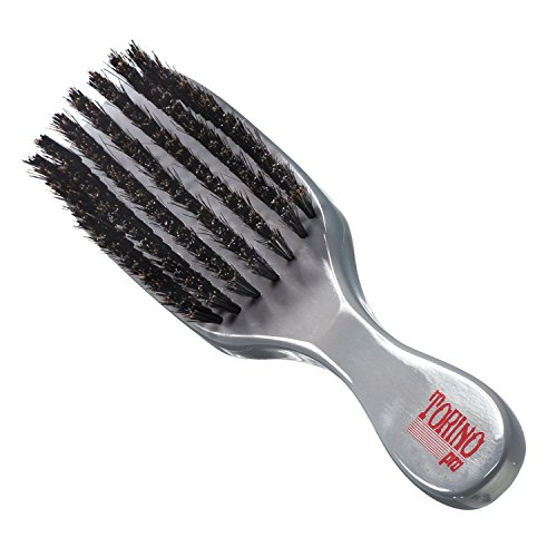 Torino Pro Wave Brush #960 By Brush King - 7 Row Medium Hard Wave Brush - Reinforced Boar & Nylon Bristles - Great for Wolfing - Great 360 Waves Brush with Pull