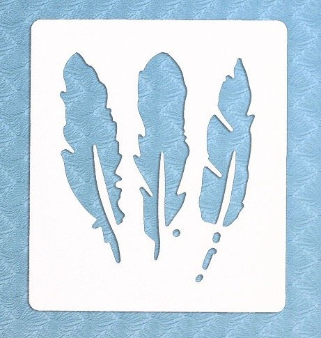 The Bodhi Tribe 3 Feathers Yoga Stencil can be found in mystical drawings, feathers symbolize a connection to the spiritual world. Add dainty feathery ...