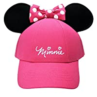 Disney Womens Minnie Mouse Bow Ears Baseball Hat (Pink)