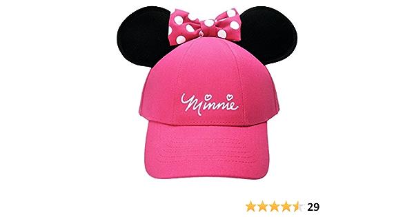 die Ohren in Pailletten f/ür M/ädchen Rosa ML Disney Minnie Cap mit verziertem Visier wendbar leuchtende Farben