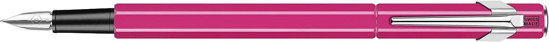 Caran d'Ache 849 Fountain Pen, Fluorescent Pink with Aluminum Body, Nib M (840.090)