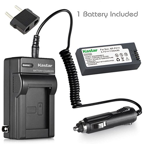 (Kastar Battery 1 Pack + Charger for Sony NP-FC11 NP-FC10 & Cyber-shot DSC-P12 DSC-P10 DSC-P8 DSC-V1 DSC-P7 DSC-P5 DSC-P9 DSC-P3 DSC-F77 DSC-P10S DSC-FX77 DSC-P2 DSC-P10L DSC-P8L DSC-F77A DSC-P8S)