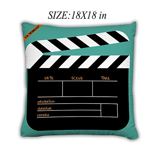 Artsbaba Pillowcases Movie Board Zipped Pillowcase Decorative Throw Pillow Cover 18''x18'' by Artsbaba