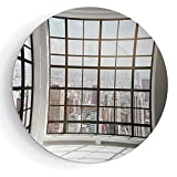 iPrint 8'' Modern Decor Urban City View of Apartments from Square Shape Windows Photo