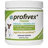 Profivex Dog & Cat Probiotic: Daily Pet Digestive Probiotics Powder With Prebiotics & Added Fiber From Sweet Potato – Pork Liver Flavor, 4.25 oz