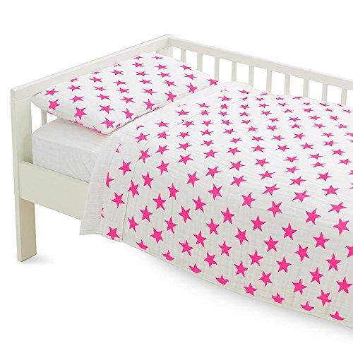 aden + anais Classic Toddler Bed in a Bag - Fluro Pink Kids Bedding Sets: Toddler Bedding, Toddler Pillow, Cotton Blanket by aden + anais