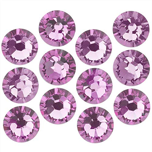 Swarovski Crystal, Round Flatback Rhinestone SS9 2.5mm, 72 Pieces, Vitrail Light ()