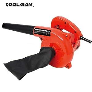 Toolman Corded Electric Leaf Sweeper Vacuum Blower 3.5A for Heavy Duty Works with DeWalt Makita Ryobi Bosch Accessories