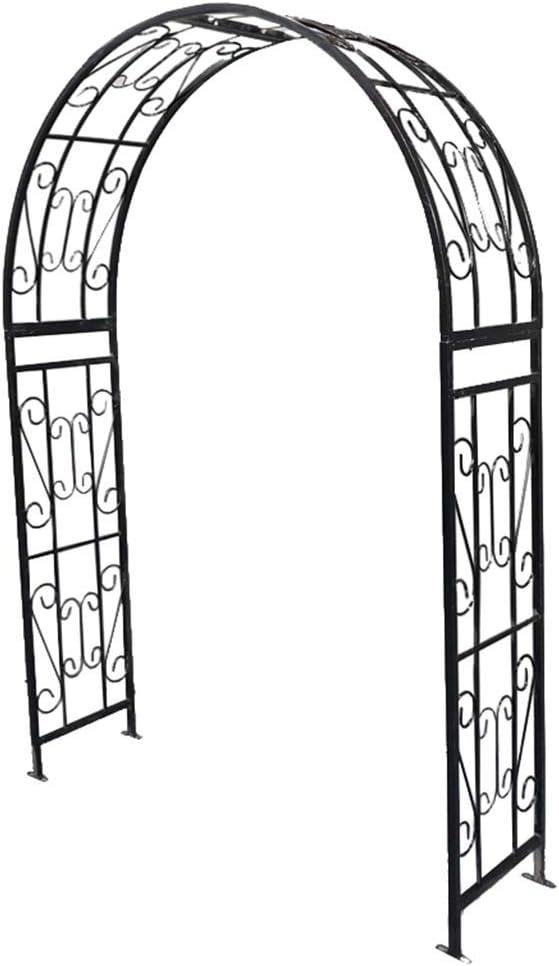 XLOO Arco de Metal para Bodas, estaca para Patio de Plantas trepadoras, pérgola de Enrejado al Aire Libre, Arco con macetas, Arco de Metal Blanco Jardín de Bodas Decoración para Fiestas Nupciales