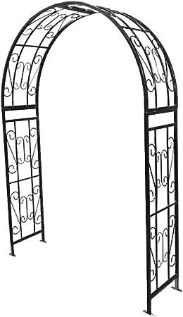 XLOO Arco de Metal para Bodas, estaca para Patio de Plantas trepadoras, pérgola de Enrejado al