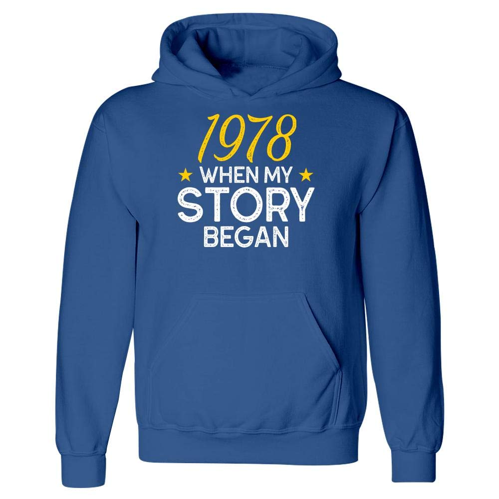 1978 When My Story Began Birthday Birth Date Hoodie
