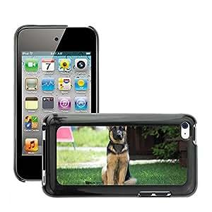 Etui Housse Coque de Protection Cover Rigide pour // M00133994 Perro pastor alemán alsaciano // Apple ipod Touch 4 4G 4th