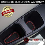 CupHolderHero for Honda Civic Accessories 2016-2020 Premium Custom Interior Non-Slip Anti Dust Cup Holder Inserts, Center Console Liner Mats, Door Pocket Liners 22-pc Set