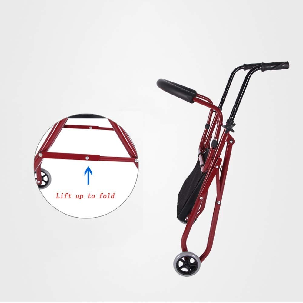 Foldable Walker,Folding Walker with Seats and Wheels Handicap Mobile Assisted Walking Frame Lightweight Non-Slip StableAdjustable Auxiliary Walking Safety Walker by YL WALKER (Image #2)