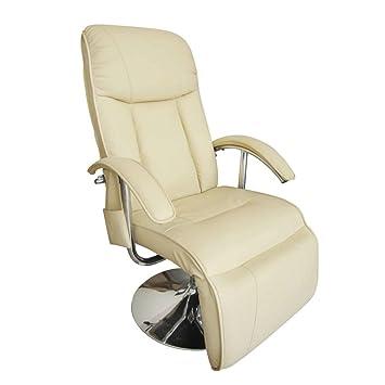 Électrique Cuir Crème Relaxation Vidaxl Massage Fauteuil Artificiel NX8Z0kPOnw