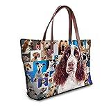 Showudesigns Kawaii Setters Print Comfortable Female Top Handle Shopping Bag