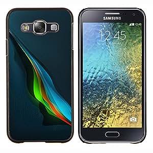 YiPhone /// Prima de resorte delgada de la cubierta del caso de Shell Armor - Onda de la música azul abstracto azul colorido - Samsung Galaxy E5 E500