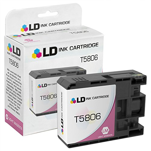 LD Products Compatible Ink Cartridge Replacement for Epson T5806 ( Magenta ) (T580600 Light)