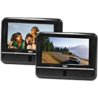 RCA DRC6272E22 Twin Mobile DVD System with 7-Inch Screens (Black)