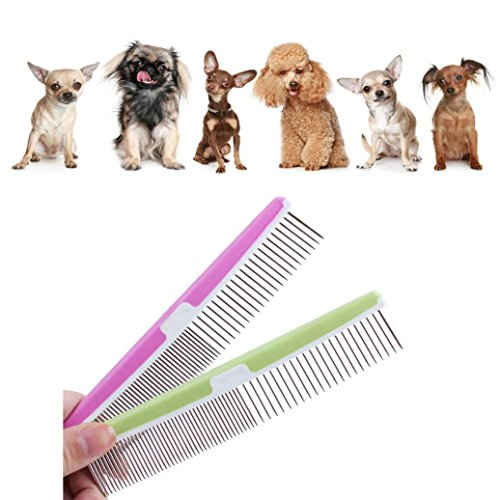 ddlbiz-stainless-steel-pet-dog-cat-pin-comb-hair-shedding-grooming-flea-comb