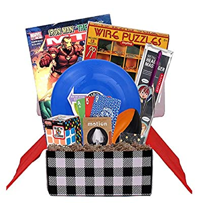 Beyond Bookmarks Teen Scene - Boy's Birthday or Special Occasion Gift Basket Includes Marvel Comic Book, Mini Sound Effects and More: Toys & Games