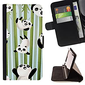 For HTC DESIRE 816 Panda Happy Cute Bamboo Japan Kids Style PU Leather Case Wallet Flip Stand Flap Closure Cover