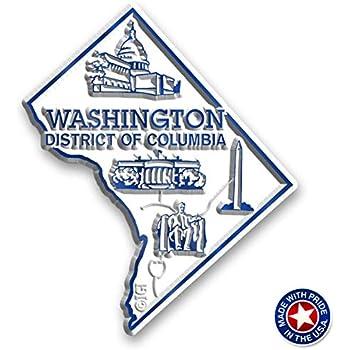 Washington D.C. State Map Magnet