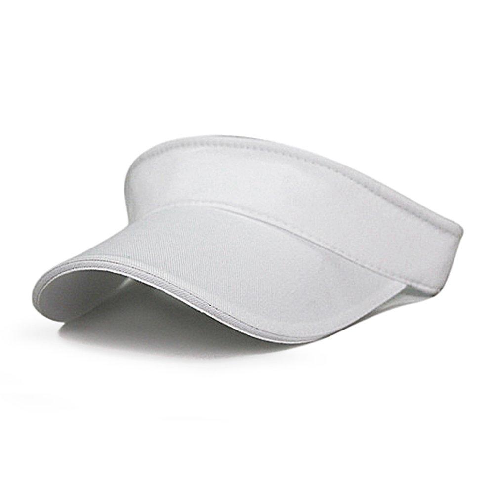 Aosbosスポーツサンバイザー大人用ゴルフバイザーテニス帽子 One Size ホワイト B06Y5KV967