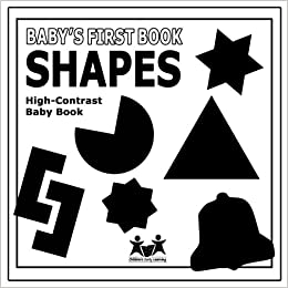 Babys First Book Shapes High Contrast Black And White Baby Book