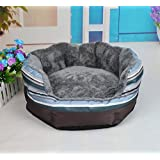 NEO Home Dog Bed Made of Oxford and Short Plush,All-in-One Design in Many Colors and Sizes,Easy-to-Clean, 100% Machine Washable.(S,M,L Available)