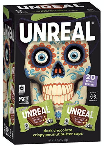 UNREAL Cups Chocolate Dark Crispy Halloween 20 Ct, 9.9 OZ