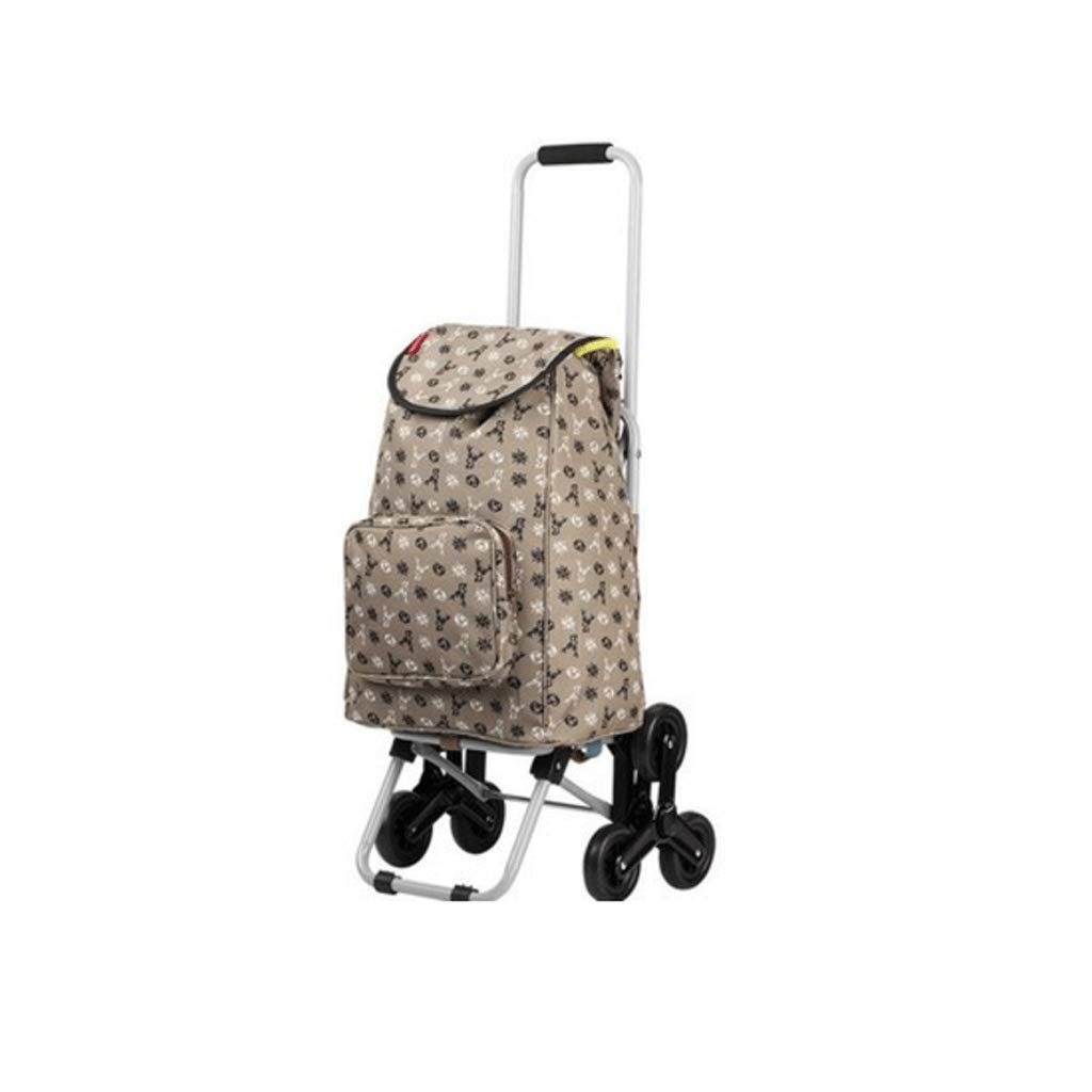 Vvlo Stylish Foldable Portable Waterproof Trolley wear-Resistant wear-Resistant Rolling Wheel Smooth (Color : B)