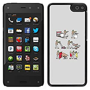 // PHONE CASE GIFT // Duro Estuche protector PC Cáscara Plástico Carcasa Funda Hard Protective Case for Amazon Fire Phone / Frankenwalk - Funny /