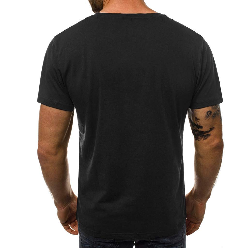 Qinnyo Mens T Shirt for Men Tops Letter Printing Letters Tees Shirt Short Sleeve Blouse Sweatshirt Pullover S-3XL