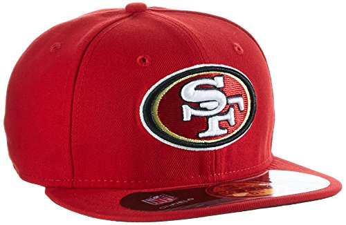 NFL San Francisco 49Ers On Field 5950 Game Cap, 49Ers Red, - San Francisco Corkscrew Giants