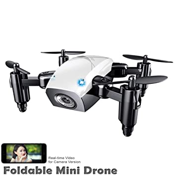 DHHZRKJ Cámara Miniatura RC Plegable Quadcopter 480P HD cámara ...