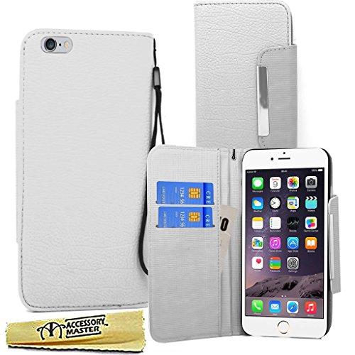 Accessory Master Phantasie PU Leder Buch Flip Hülle für Apple iPhone 6 weiß