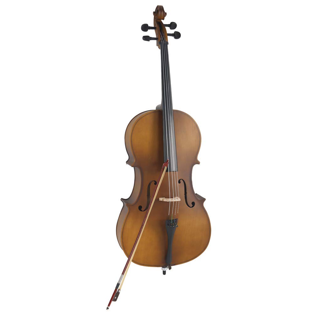 4/4 Acoustic Cello Case Bow Rosin Wood Color Hot