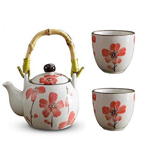 Mix&Max Tea Sets Design Tea Pot and Cups Set Serves 2 Beautifully Packaged in Gift Box Home Decor Living Room Coffee Tea Cups