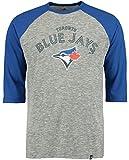 Majestic Toronto Blue Jays MLB Mens Fast Win 3/4 Sleeve Raglan Shirt Big & Tall Sizes