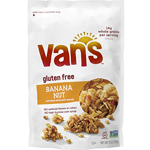 Van Nut - Van's Simply Delicious Gluten-Free Soft and Chewy Granola, Banana Nut, 11 oz.