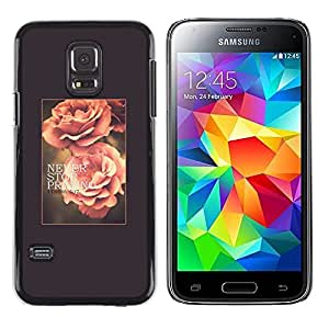 Printemps Été texte Vignette - Metal de aluminio y de plástico duro Caja del teléfono - Negro - Samsung Galaxy S5 Mini (Not S5), SM-G800