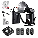 Godox Witstro AD360 360Ws GN80 High Power Portable Flash Speedlite with X1T-S XTR-16 XTR-16S 2.4G Wireless Flash Transmitter Receiver Kit, AD-S15 Flash Tube Protective Cover and DB-02 Cable