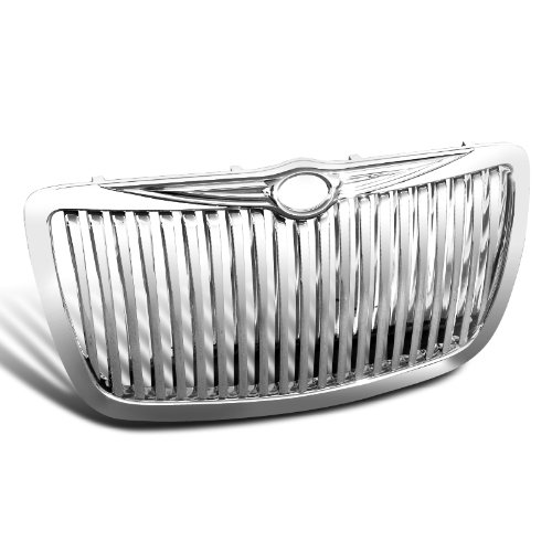 Spec-D Tuning HG-300C05CVT Chrysler 300 300C Chrome Vertical Front Grill Grille (Chrysler 300 Back Bumper compare prices)