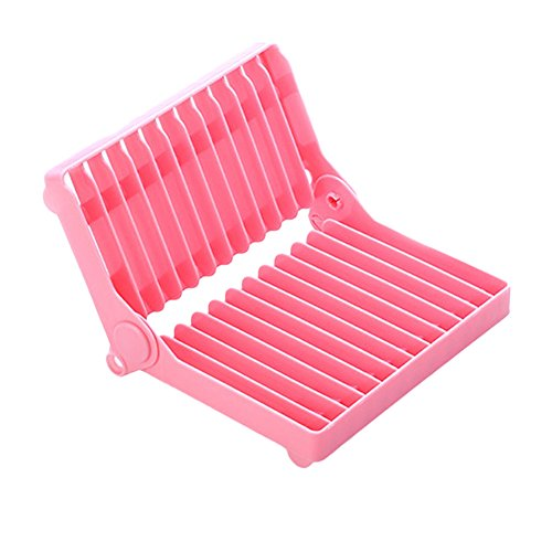 Feamos Collapsible Plate Dish Drying Organizer Rack Drainer