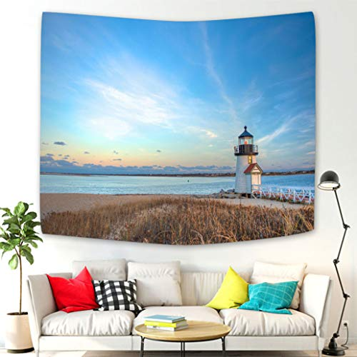 - Wall Hanging Bedding Tapestry Brant Point Lighthouse Nantucket MA Tapestries Wall Art Decoration for Living Room Bedroom