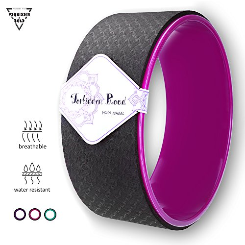 Forbidden Road Yoga Wheel Exercise Wheel Prop for Release Tight Chest and Shoulders Deepen Back bend Stretching and Improving Yoga Poses and Flexibility Balance and Core Strength